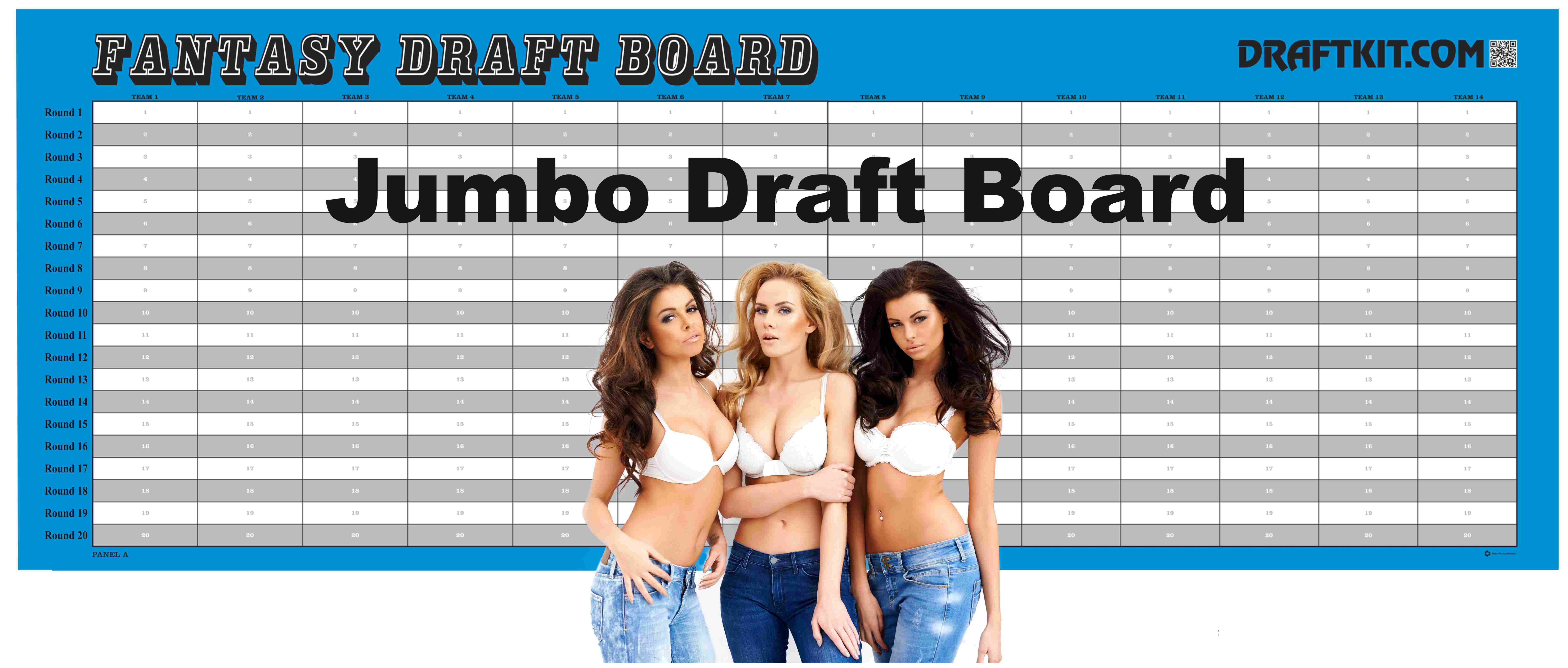 964b3db994c Jumbo Size Fantasy Football Draft Kit
