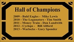 Hall of Champions Plate - Re-Order
