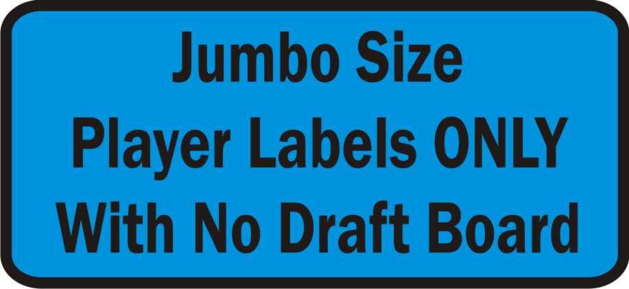 572f6e9f1a5 Jumbo Size Fantasy Football Player Labels Only with no Draft Board. Tap to  expand