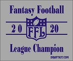 Fantasy Football League Champion Drink / Can Cooler-Choose Your Year