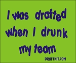 I Was Drafted When I Drunk My Team Drink-Can Cooler