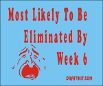 Most Likely To Be Eliminated By Week 6