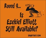 Round 9...Is Ezekiel Elliott Still Available? Drink-Can Cooler