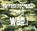 Fantasy Football...This Is War Drink-Can Cooler