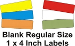 Extra 1 x 4 Inch Blank Labels - Regular Size