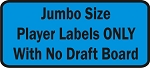 Jumbo Size Fantasy Football Player Labels Only with no Draft Board