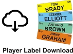 Football Player Label File Download