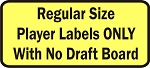 Regular Size Fantasy Football Player Labels Only with no Draft Board