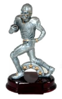 10 Inch Resin Football Player Trophy