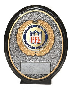 Fantasy Football Champion Disc Plate