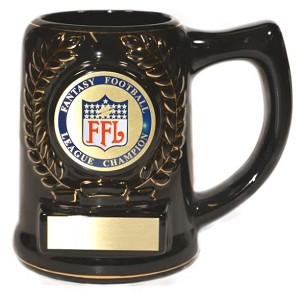 Fantasy Football Disc Stein